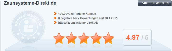 Super Kundenbewertung-Übersicht