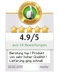 Ekomi 5-Sterne-Bewertung für Zaunsysteme-direkt.de